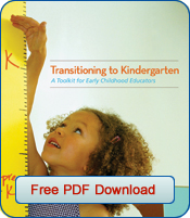transitioning to kindergarten